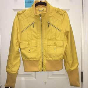 568344c2fe30 Kids  Yellow Leather Jacket on Poshmark
